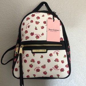 Juicy Couture Backpack Pink White Black Dusty Rose
